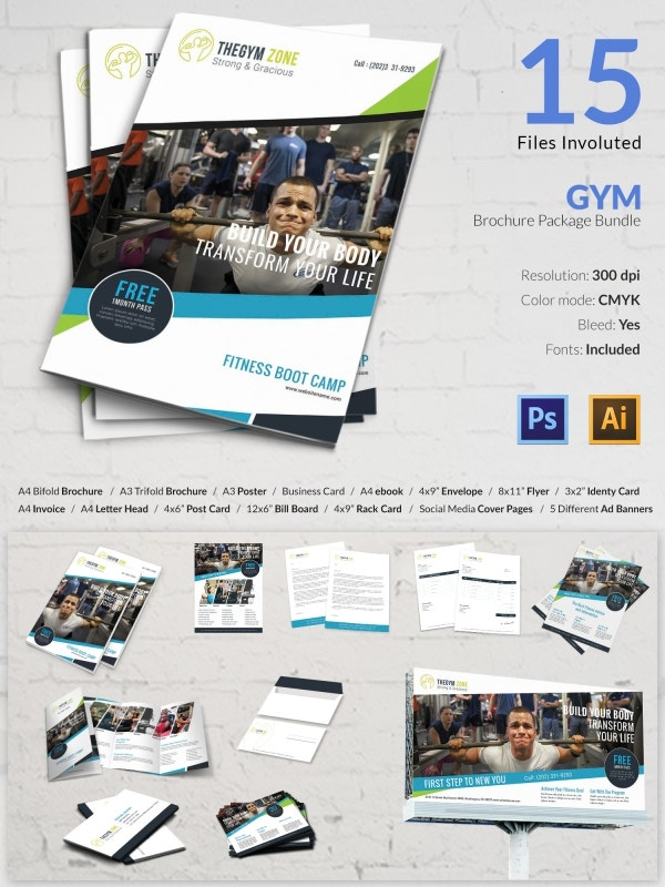 15 best gym templates bundle