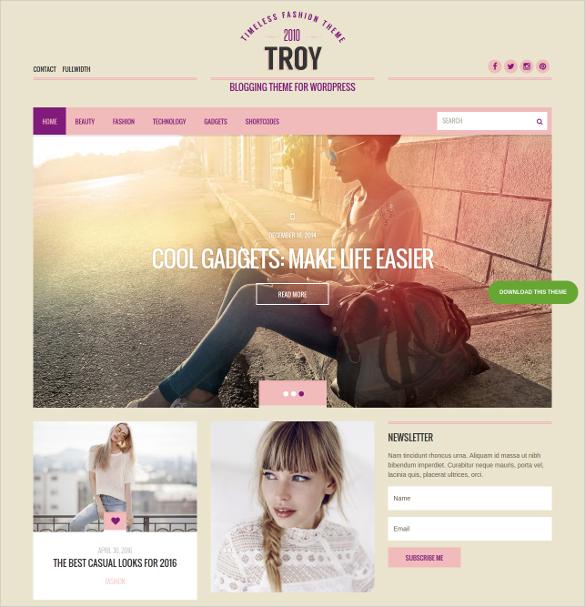 superb blogging tumblr style wordpress theme