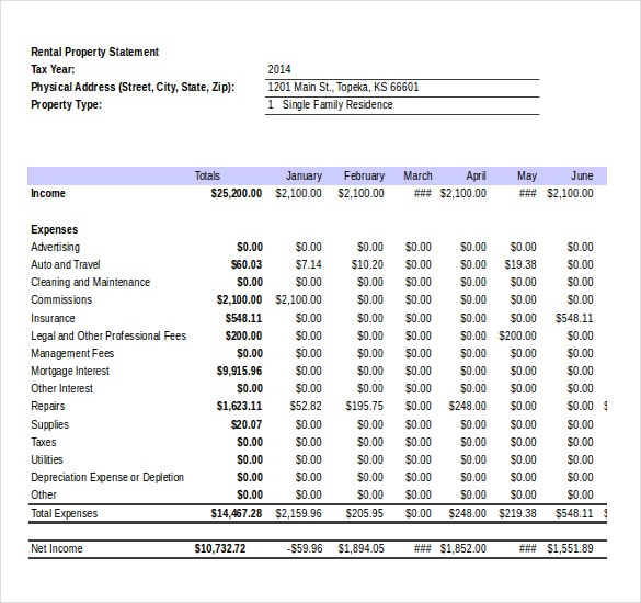 Income Statement Templates 23 Free Word Excel Pdf Documents