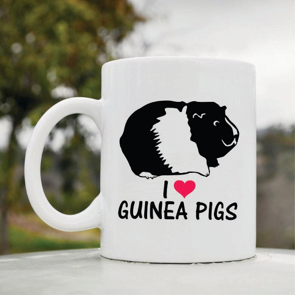 i love guinea pigs coffee cup art