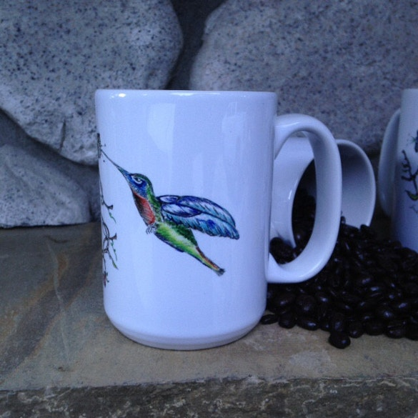 coffee cup art mug hummingbird download