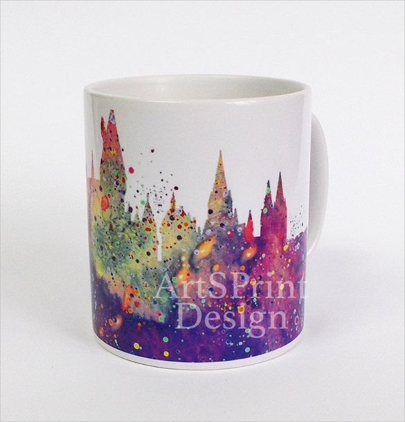harry potter mug watercolor art cup coffee mug printable