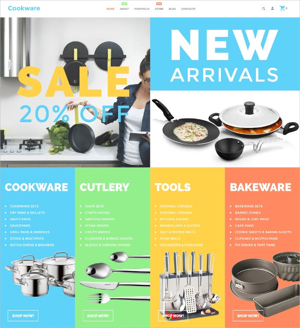 cookware interior design woocommerce theme 114