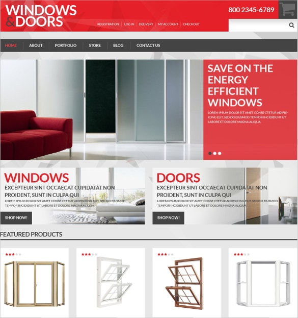 windows doors interior design store woocommerce theme 114