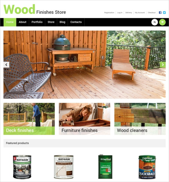 wood finishes interior design store woocommerce theme 114