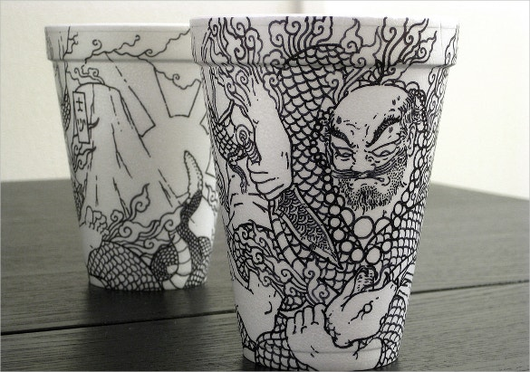 katsuro coffee cup art cool design