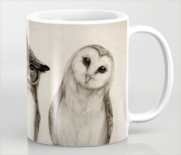 cool eagle birds art on coffee mug