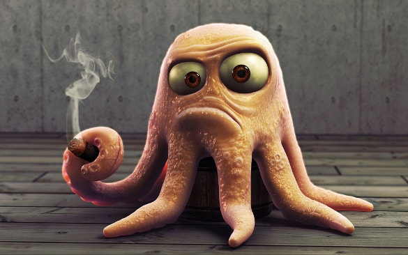 octopus funny cool wallpaper for desktop