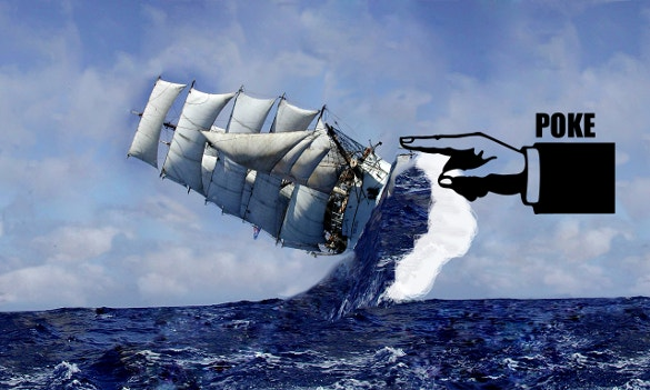 poke falling ship funny wallpaper for free