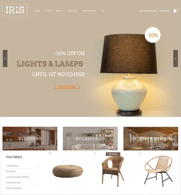 free fully responsive interior design woocommerce theme