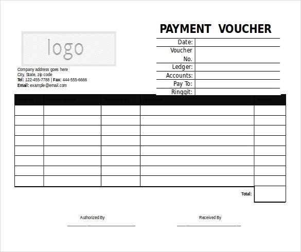 10 Microsoft Word Format Voucher Templates Free Download – Sample Payment Voucher Template