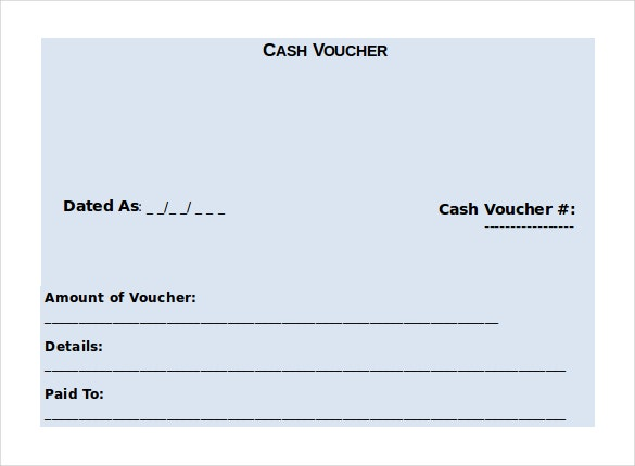 10 Microsoft Word Format Voucher Templates Free Download – Cash Voucher Template