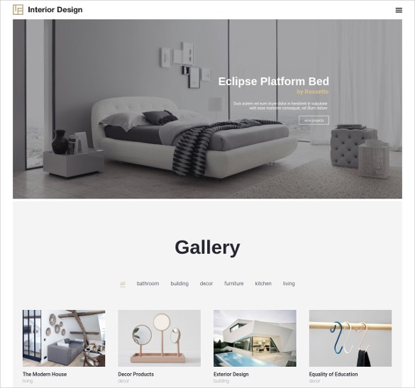 interior design portfolio woocommerce theme