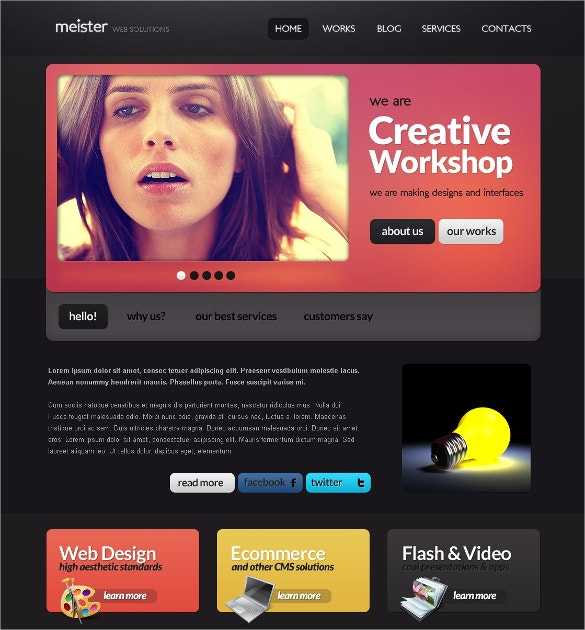 Software Development company Website Template free download
