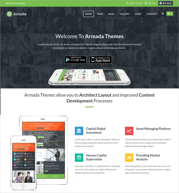 marketing software developer wordpress website theme 59