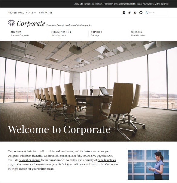 corporate software developer wordpress website theme 175