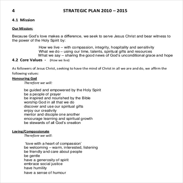 11+ Church Strategic Plans - DOC, PDF | Free & Premium Templates