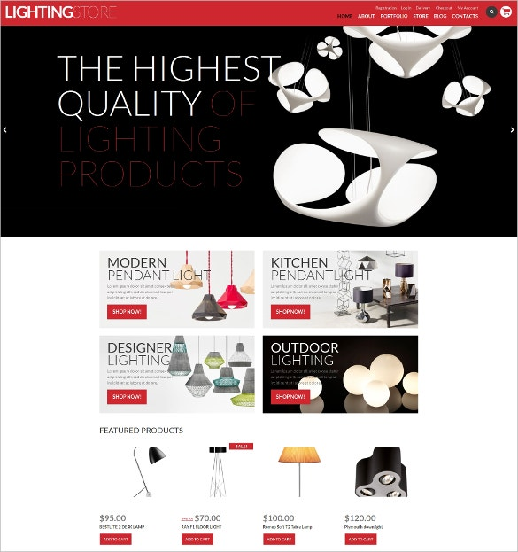 lighting store home decoration woocommerce theme 114