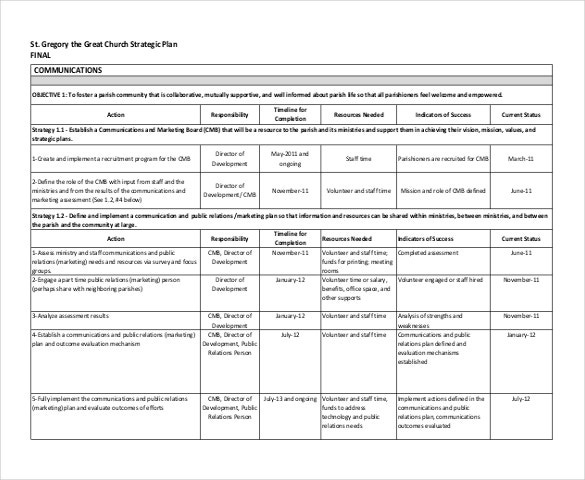 Strategic Plan Template Strategic Plan Template 4 6 Strategic