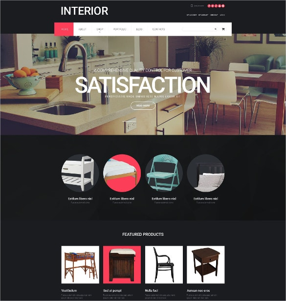 home decoration interior design woocommerce theme 114