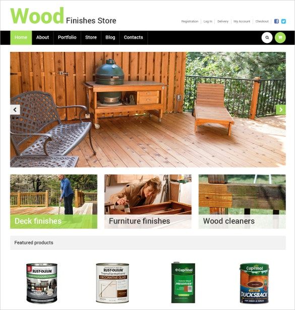 home decoration wood finishes store woocommerce theme 114