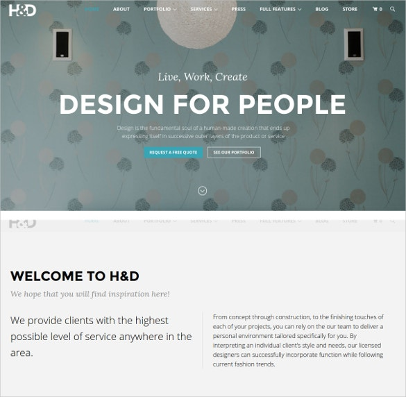 home interior decor wordpress woocommerce theme 59