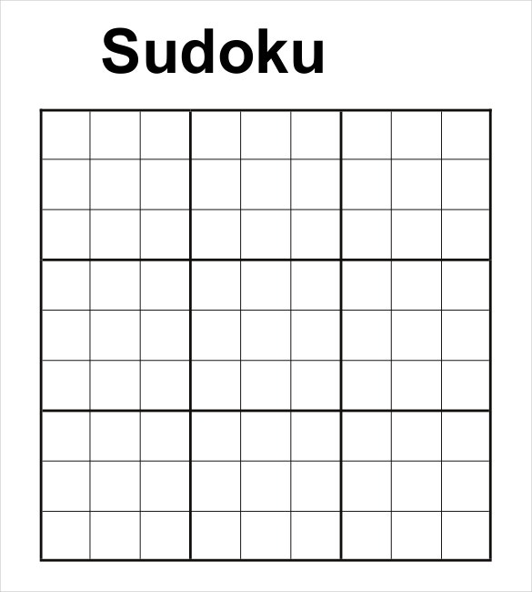 Epic image pertaining to blank sudoku grid printable