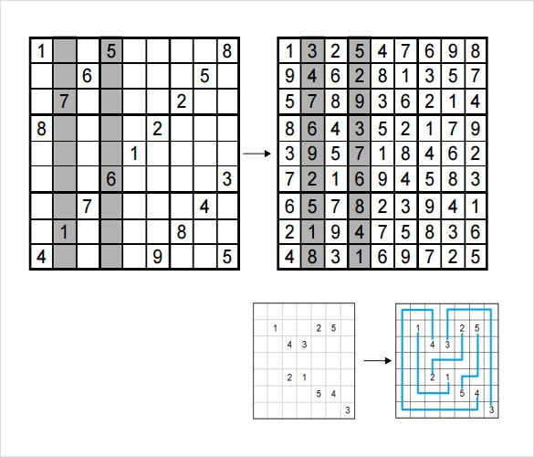 example of different types of sudoku puzzles