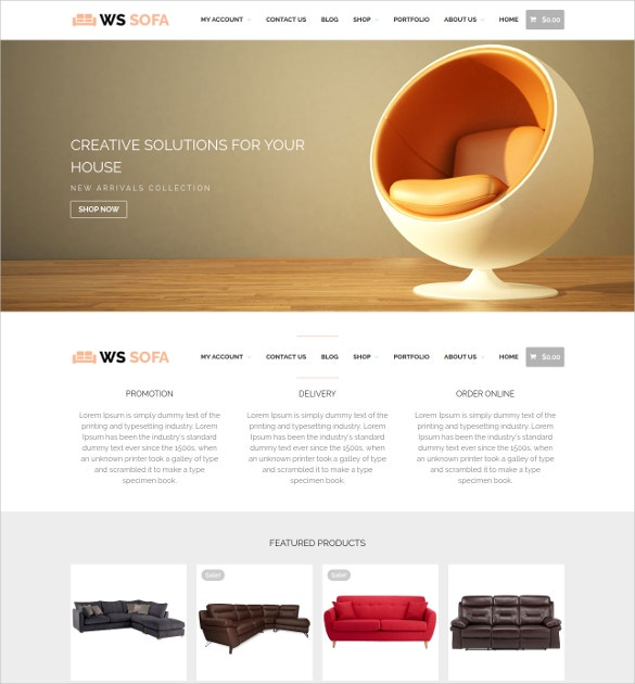 home interior decor sofa wordpress woocommerce theme 19