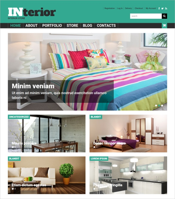 free home interior decor woocommerce theme