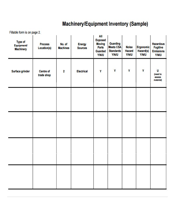 Inventory Template  Free Sample Example Format  Free