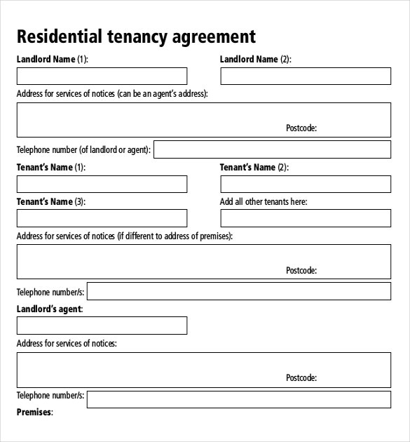 Rental agreement templates 17 free word pdf documents for Landlords contract template