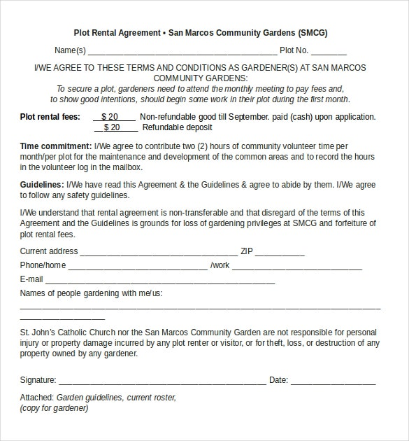 Plot Rental Agreement Template Download In MS Word  Agreement Template Word