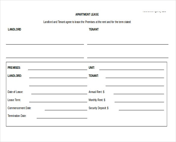 Rental Agreement Templates 15 Free Word PDF Documents Download – Apartment Lease Agreements