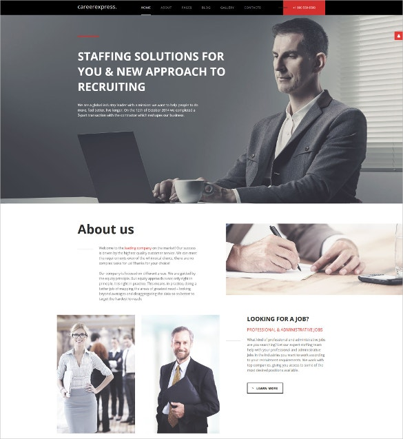 careerexpress lms joomla template 75