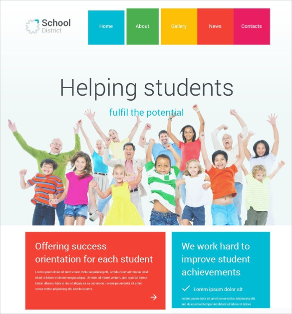 school district lms joomla template 75