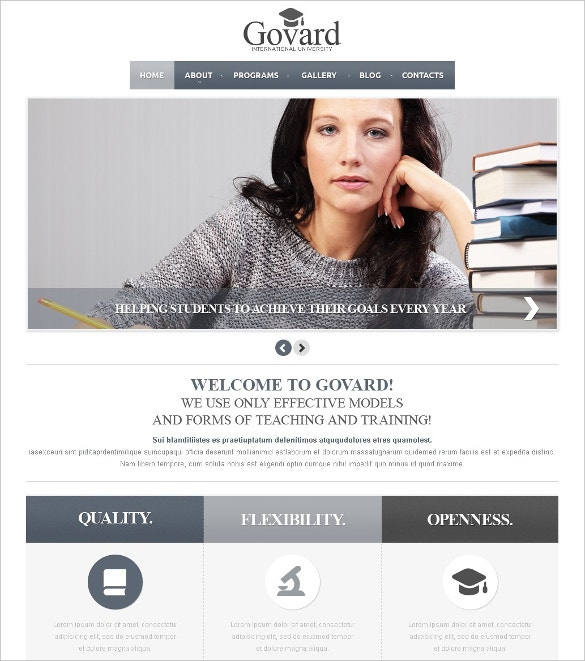 international university lms joomla template 75