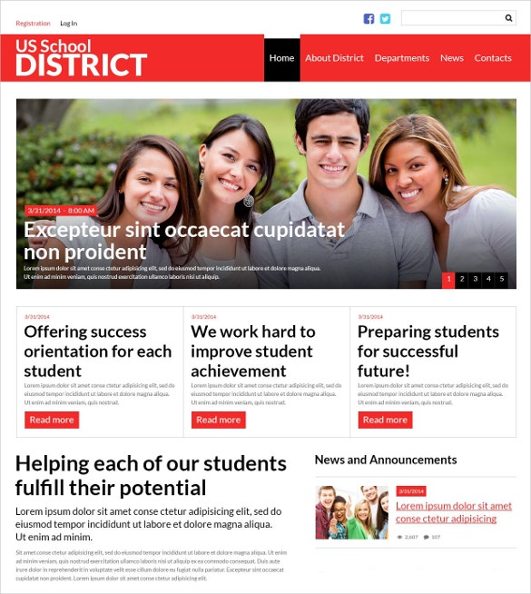 us school district website lms joomla template 75