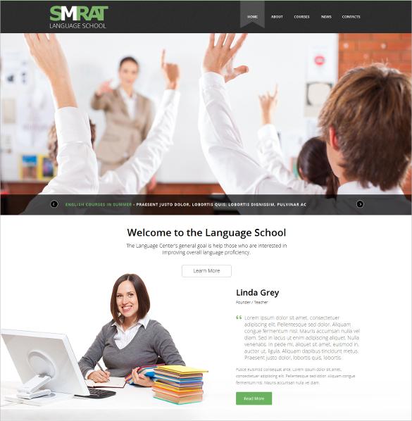 foreign language teaching lms joomla template 75