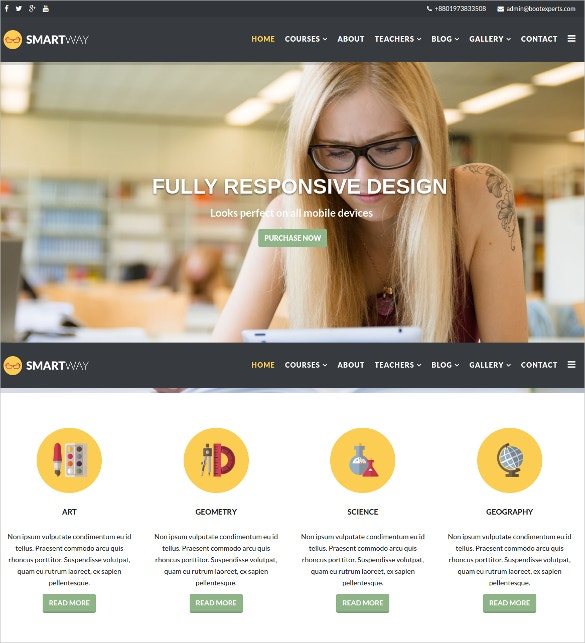 online courses lms virtuemart joomla template 48