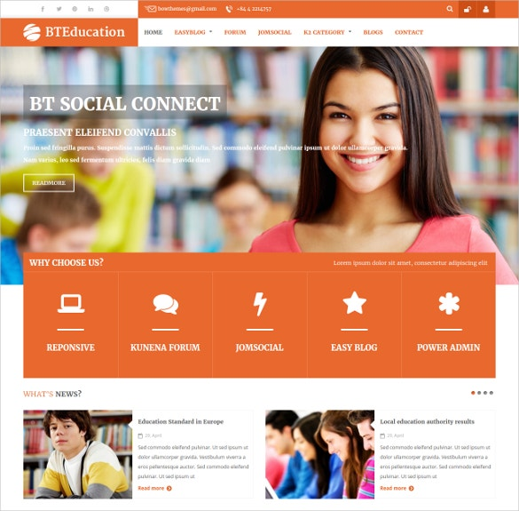 responsive template for lms joomla theme 48