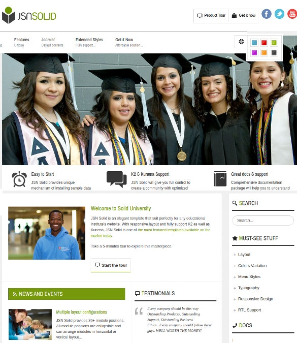 responsive joomla education lms template 48