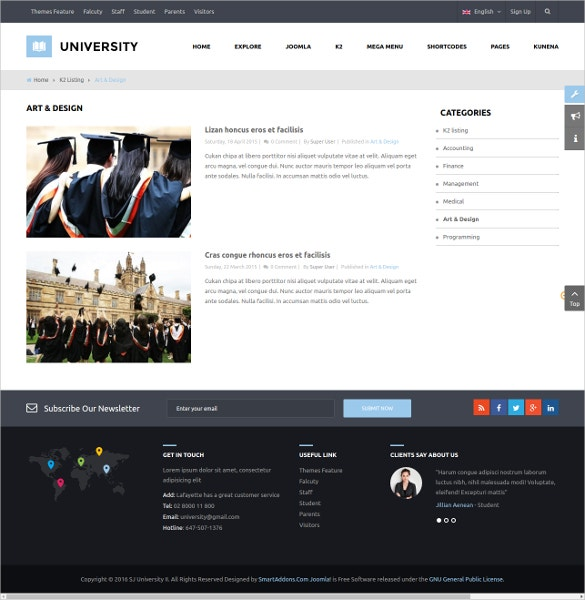 multipurpose education lms template 48