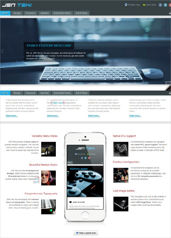 responsive joomla technology template