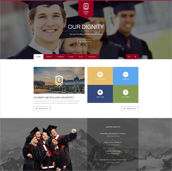 education event and lms course joomla theme 48