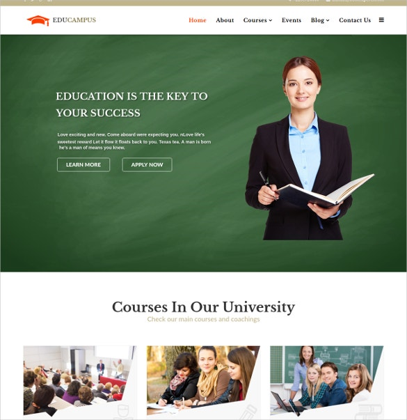 untitled education university lms joomla template 48