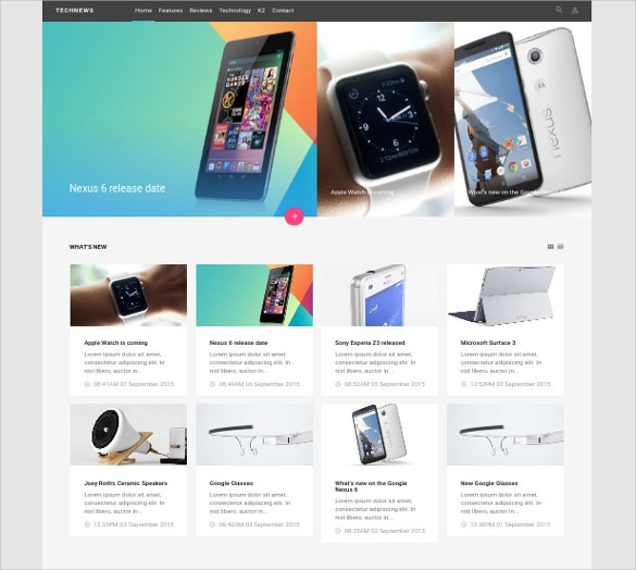 technology review joomla template