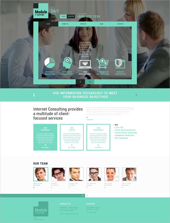 information technology company joomla template