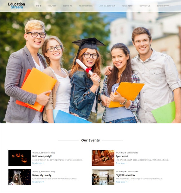 education streem lms joomla theme 69