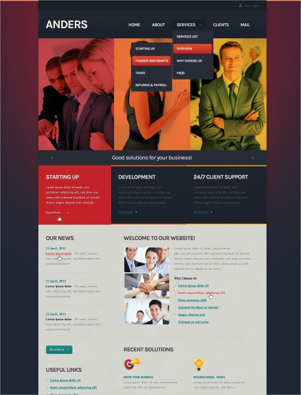 corporate business technology joomla template